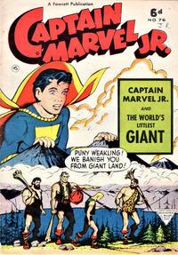 Cover Thumbnail for Captain Marvel Jr. (L. Miller & Son, 1950 series) #76