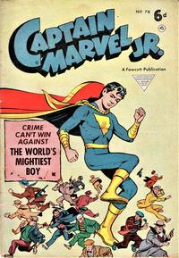 Cover Thumbnail for Captain Marvel Jr. (L. Miller & Son, 1950 series) #78