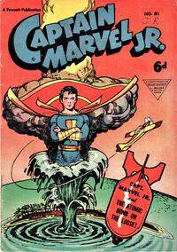 Cover Thumbnail for Captain Marvel Jr. (L. Miller & Son, 1950 series) #81
