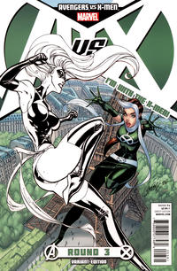 Cover Thumbnail for Avengers vs. X-Men (Marvel, 2012 series) #3 [Team X-Men Variant Cover by J. Scott Campbell]