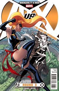 Cover Thumbnail for Avengers vs. X-Men (Marvel, 2012 series) #3 [Team Avengers Variant Cover by J. Scott Campbell]