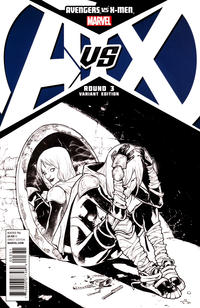Cover Thumbnail for Avengers vs. X-Men (Marvel, 2012 series) #3 [Sketch Variant Cover by Sara Pichelli]