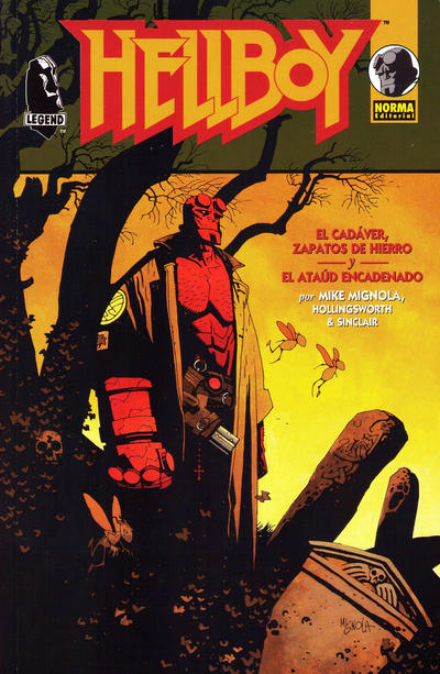 Cover for Hellboy: El Cadaver, Zapatos de Hierro y El Ataúd Encadenado (NORMA Editorial, 1997 series)