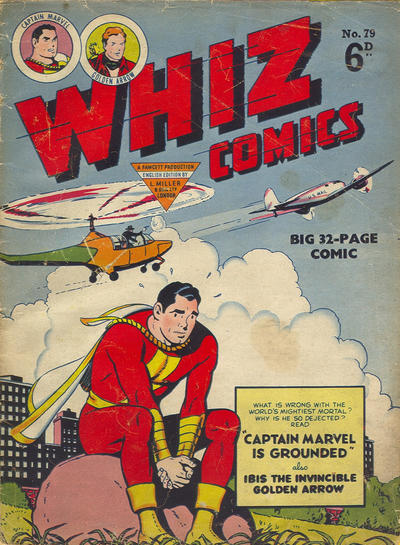 Cover for Whiz Comics (L. Miller & Son, 1950 series) #79
