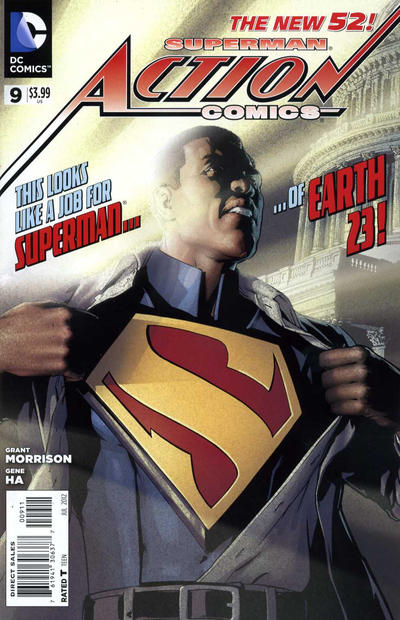 Cover for Action Comics (DC, 2011 series) #9 [Gene Ha Variant Sketch Cover]
