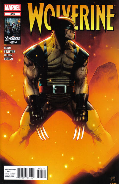 Cover for Wolverine (Marvel, 2010 series) #305 [Variant Cover by Steve McNiven]