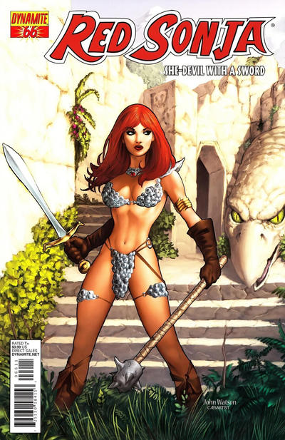 Cover for Red Sonja (Dynamite Entertainment, 2005 series) #66 [Cover B John Watson]