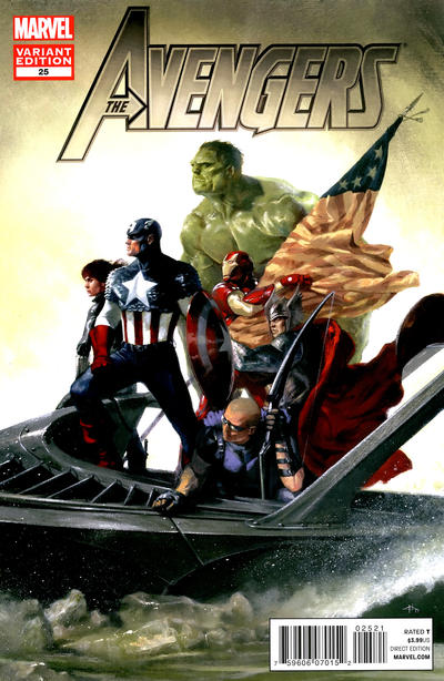 Cover for Avengers (Marvel, 2010 series) #25 [2nd Printing Cover by Daniel Acuña]