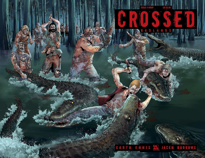 Cover for Crossed Badlands (Avatar Press, 2012 series) #4 [Incentive Red Crossed Cover - Jacen Burrows]