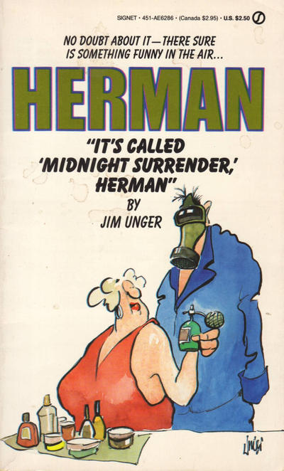 """Cover for """"It's Called 'Midnight Surrender,' Herman"""" (New American Library, 1986 series) #AE6286"""