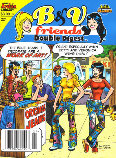 Cover for B&V Friends Double Digest Magazine (Archie, 2011 series) #224 [Direct]
