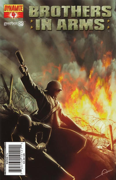 Cover for Brothers in Arms (Dynamite Entertainment, 2008 series) #4 [Davide Fabbri Cover]