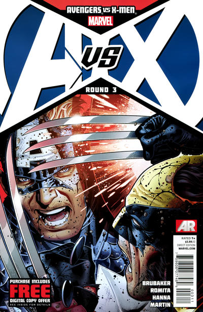 Cover for Avengers vs. X-Men (Marvel, 2012 series) #3 [Variant Cover by J. Scott Campbell]