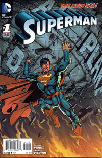 Cover for Superman (DC, 2011 series) #1 [Direct Sales]