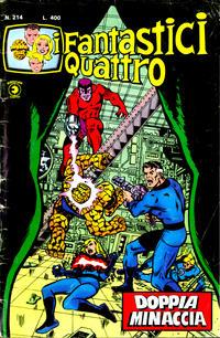 Cover Thumbnail for I Fantastici Quattro (Editoriale Corno, 1971 series) #214