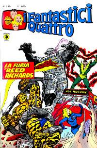 Cover Thumbnail for I Fantastici Quattro (Editoriale Corno, 1971 series) #215