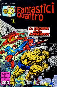 Cover Thumbnail for I Fantastici Quattro (Editoriale Corno, 1971 series) #200