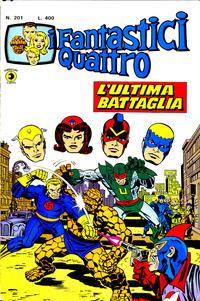 Cover Thumbnail for I Fantastici Quattro (Editoriale Corno, 1971 series) #201