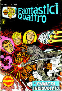 Cover Thumbnail for I Fantastici Quattro (Editoriale Corno, 1971 series) #187