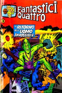 Cover Thumbnail for I Fantastici Quattro (Editoriale Corno, 1971 series) #191