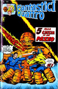 Cover Thumbnail for I Fantastici Quattro (Editoriale Corno, 1971 series) #184