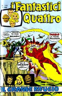 Cover Thumbnail for I Fantastici Quattro (Editoriale Corno, 1971 series) #115