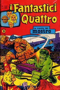 Cover Thumbnail for I Fantastici Quattro (Editoriale Corno, 1971 series) #143
