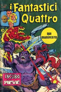Cover Thumbnail for I Fantastici Quattro (Editoriale Corno, 1971 series) #144