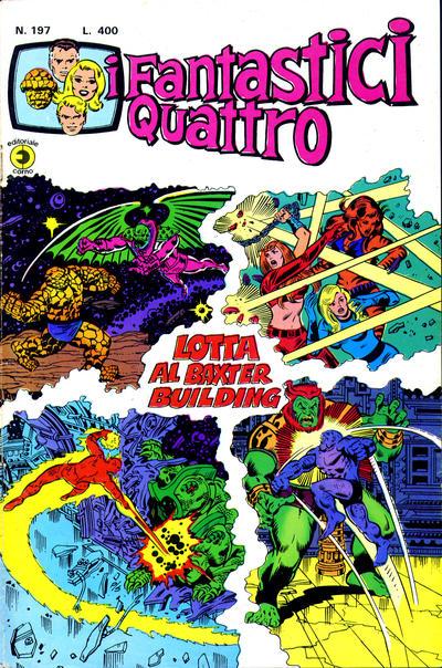 Cover for I Fantastici Quattro (Editoriale Corno, 1971 series) #197