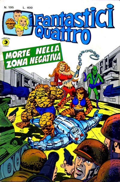 Cover for I Fantastici Quattro (Editoriale Corno, 1971 series) #195