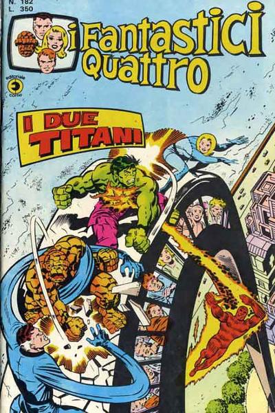 Cover for I Fantastici Quattro (Editoriale Corno, 1971 series) #182