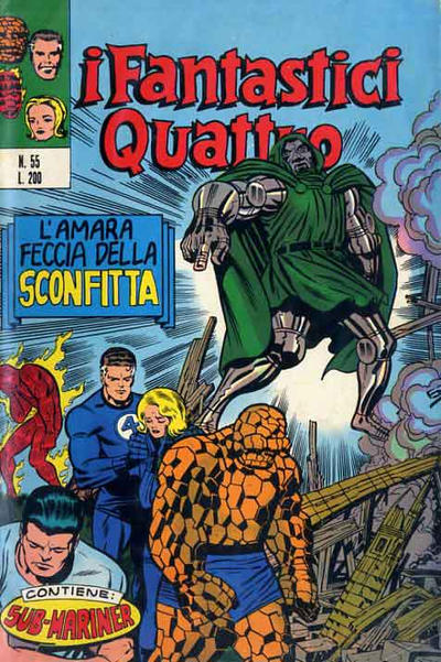 Cover for I Fantastici Quattro (Editoriale Corno, 1971 series) #55