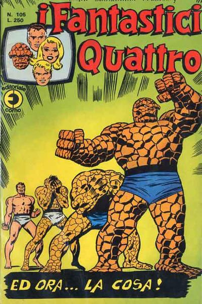 Cover for I Fantastici Quattro (Editoriale Corno, 1971 series) #105
