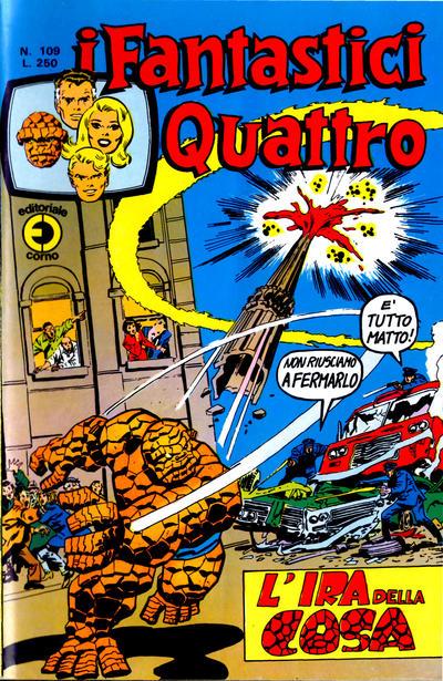 Cover for I Fantastici Quattro (Editoriale Corno, 1971 series) #109