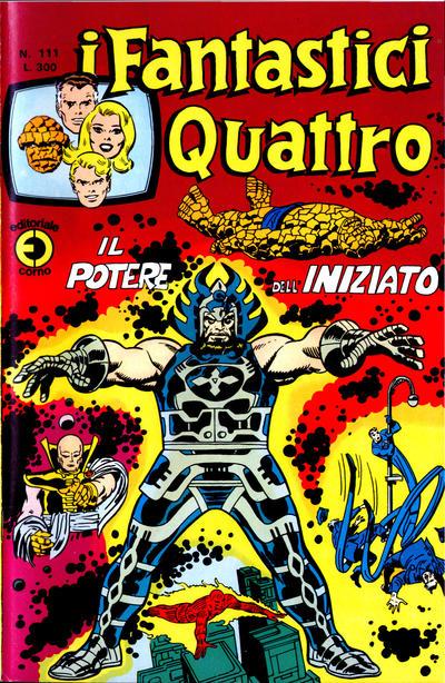 Cover for I Fantastici Quattro (Editoriale Corno, 1971 series) #111