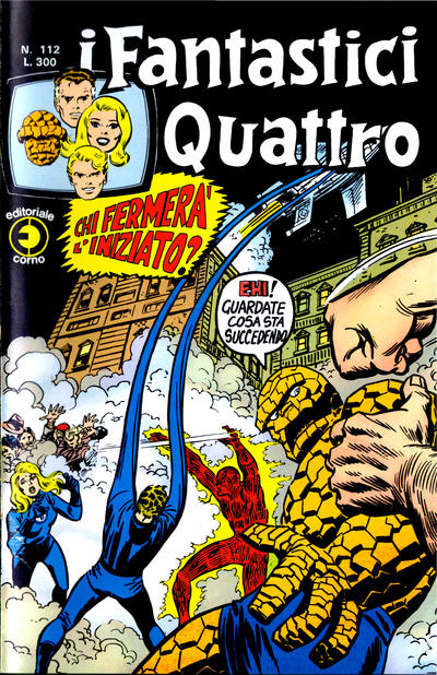 Cover for I Fantastici Quattro (Editoriale Corno, 1971 series) #112