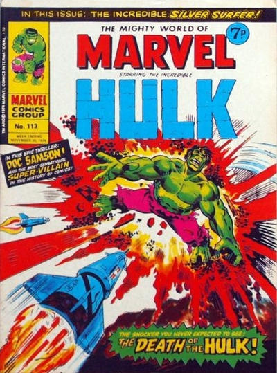 Cover for The Mighty World of Marvel (Marvel UK, 1972 series) #113
