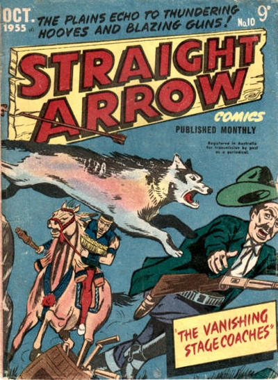 Cover for Straight Arrow Comics (Magazine Management, 1955 series) #10