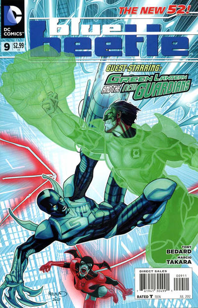 Cover for Blue Beetle (DC, 2011 series) #9