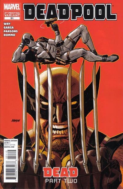 Cover for Deadpool (Marvel, 2008 series) #51 [2nd Print Variant]