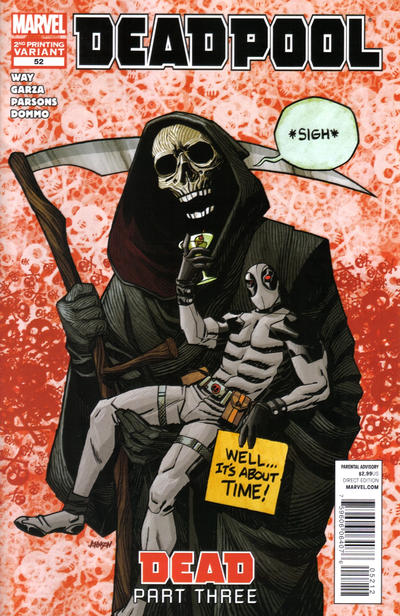 Cover for Deadpool (Marvel, 2008 series) #52 [2nd Print Variant]