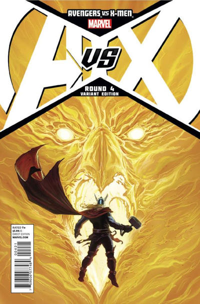Cover for Avengers vs. X-Men (Marvel, 2012 series) #4 [2nd Printing Cover by Jim Cheung]