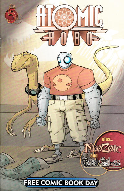 Cover for Atomic Robo / Neozoic / Bonnie Lass Free Comic Book Day 2012 (Red 5 Comics, Ltd., 2012 series)