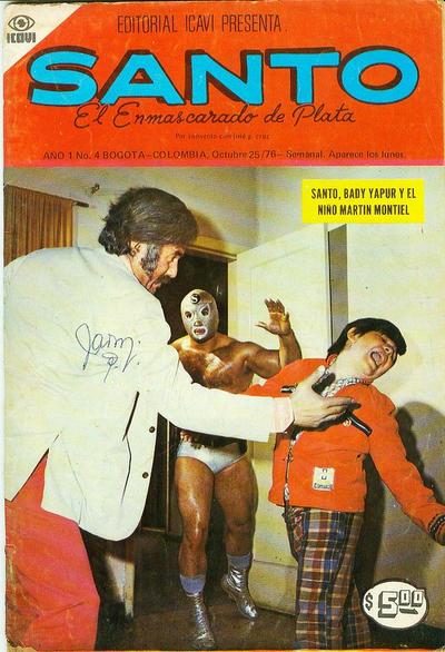 Cover for Santo El Enmascarado de Plata (Editorial Icavi, Ltda., 1976 series) #4