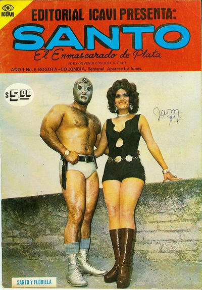 Cover for Santo El Enmascarado de Plata (Editorial Icavi, Ltda., 1976 series) #5