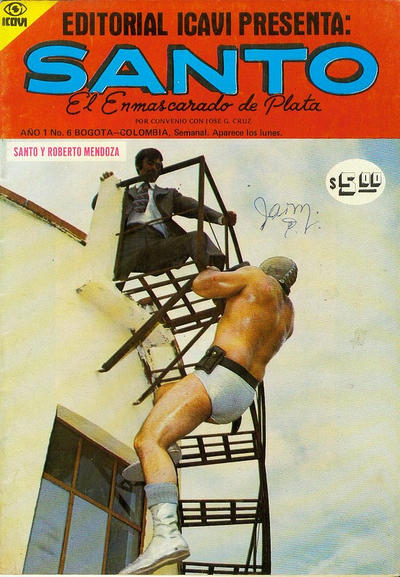 Cover for Santo El Enmascarado de Plata (Editorial Icavi, Ltda., 1976 series) #6