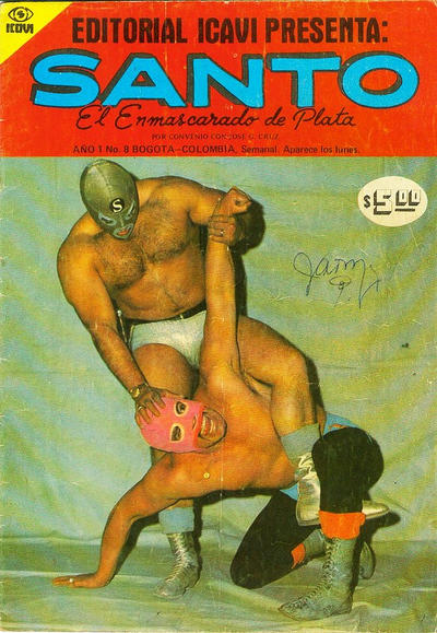 Cover for Santo El Enmascarado de Plata (Editorial Icavi, Ltda., 1976 series) #8