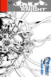 Cover for Batman: The Dark Knight (DC, 2011 series) #6 [David Finch / Richard Friend Black & White Wraparound Cover]