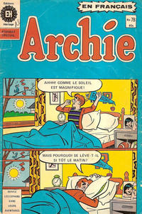 Cover Thumbnail for Archie (Editions Héritage, 1971 series) #78