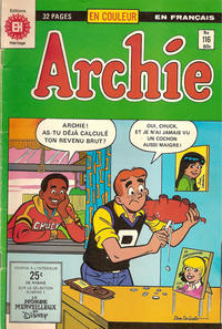 Cover Thumbnail for Archie (Editions Héritage, 1971 series) #116